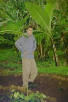 Geoff and some banana trees