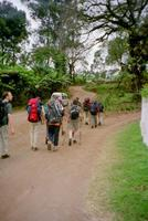 Walking out from the Kibo